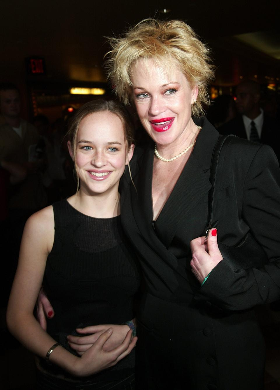 Dakota Johnson and Melanie Griffith at the premiere of 'And Starring Pancho Villa As Himself'