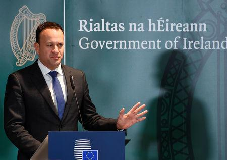 Ireland's Prime Minister (Taoiseach) Leo Varadkar holds a news conference after a European Union summit in Brussels, Belgium March 22, 2019.  REUTERS/Toby Melville