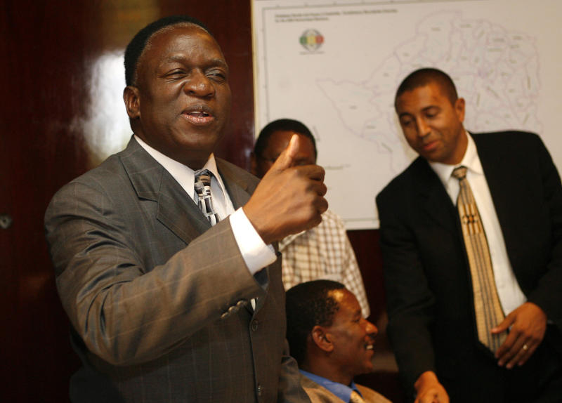 Emmerson Mnangagwa, seen here during elections in 2008, is poised to becomeZimbabwe's new leader. (Howard Burditt/Reuters)