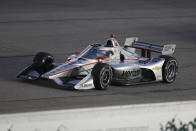 Will Power, of Australia, races his car during the IndyCar Series auto race Friday, July 17, 2020, at Iowa Speedway in Newton, Iowa. (AP Photo/Charlie Neibergall)