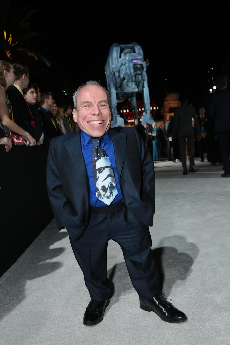 Warwick Davis appears as multiple characters in <i>The Last Jedi</i>. (Photo: Alex J. Berliner/ABImages)