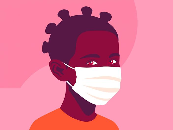 The new government advice states that children under the age of two should not wear a face mask: iStock