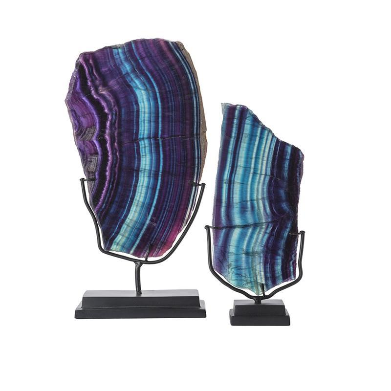 """<a rel=""""nofollow noopener"""" href=""""https://katharinepooley.com/boutique/shop/accessories/fluorite-slice/"""" target=""""_blank"""" data-ylk=""""slk:Fluorite Mineral on Stand, Katharine Pooley, $910""""I adore the unique sculptural beauty of collectable mineral pieces when combined with bronze and in evocative dark jewel tones like agate, fluorite or malachite. They give the depth and interest necessary to successfully update your table top for fall."""""""" class=""""link rapid-noclick-resp"""">Fluorite Mineral on Stand, Katharine Pooley, $910<p>""""I adore the unique sculptural beauty of collectable mineral pieces when combined with bronze and in evocative dark jewel tones like agate, fluorite or malachite. They give the depth and interest necessary to successfully update your table top for fall.""""</p> </a>"""