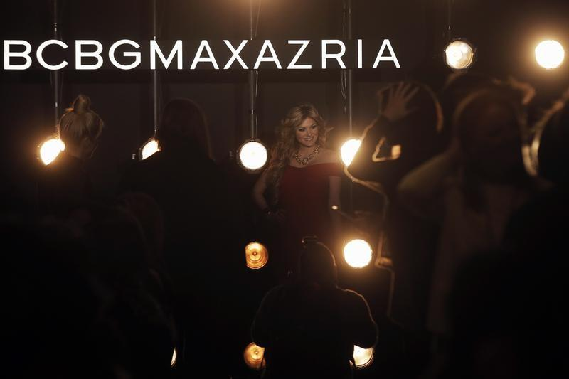 Guests arrive for the BCBG Max Azria Fall/Winter 2016 collection fashion show during New York Fashion Week in New York