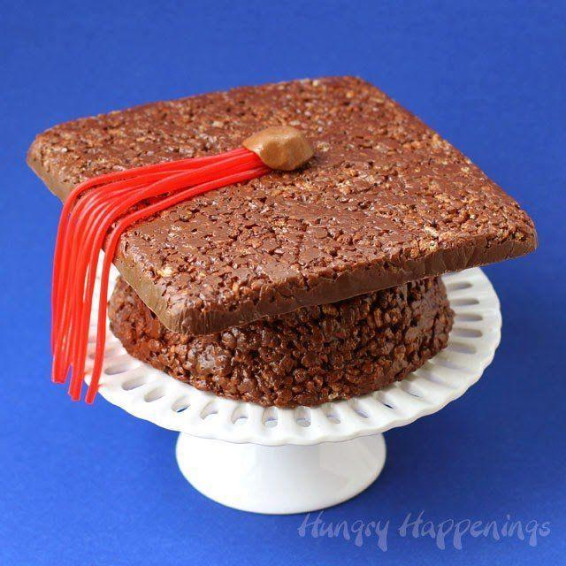 """<p>Instead of a classic cake, why not kick it old school with Cocoa Krispies in the form of a grad cap? The throwback cereal is sure to be a hit among kids and adults. </p><p><strong>See the tutorial at </strong><a href=""""https://hungryhappenings.com/cocoa-krispies-treat-graduation-cap/"""" rel=""""nofollow noopener"""" target=""""_blank"""" data-ylk=""""slk:Hungry Happenings"""" class=""""link rapid-noclick-resp""""><strong>Hungry Happenings</strong></a><strong>.</strong></p><p><a class=""""link rapid-noclick-resp"""" href=""""https://www.amazon.com/Kelloggs-Krispies-Breakfast-Cereal-Chocolate/dp/B07KQQSSWN/?tag=syn-yahoo-20&ascsubtag=%5Bartid%7C10050.g.31121022%5Bsrc%7Cyahoo-us"""" rel=""""nofollow noopener"""" target=""""_blank"""" data-ylk=""""slk:SHOP COCOA KRISPIES""""><strong>SHOP COCOA KRISPIES</strong></a></p>"""