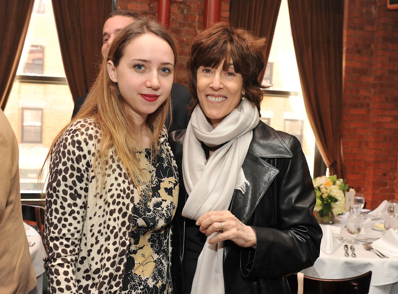 NEW YORK, NY - APRIL 21:  Actress Zoe Kazan and director Nora Ephron attend the Juror Welcome Lunch At The 2011 Tribeca Film Festival at Tribeca Lofts on April 21, 2011 in New York City.  (Photo by Stephen Lovekin/Getty Images)