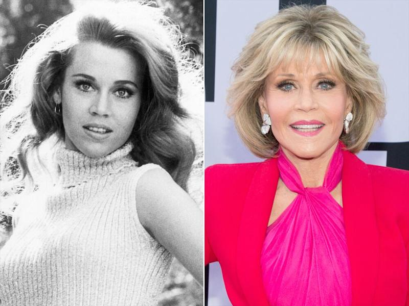 Jane Fonda in 1967 (left) and in 2018 (right) | Getty (2)