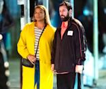 <p>Queen Latifah and Adam Sandler were seen filming late night scenes of their upcoming Netflix film <em>Hustle</em> in Philadelphia.</p>