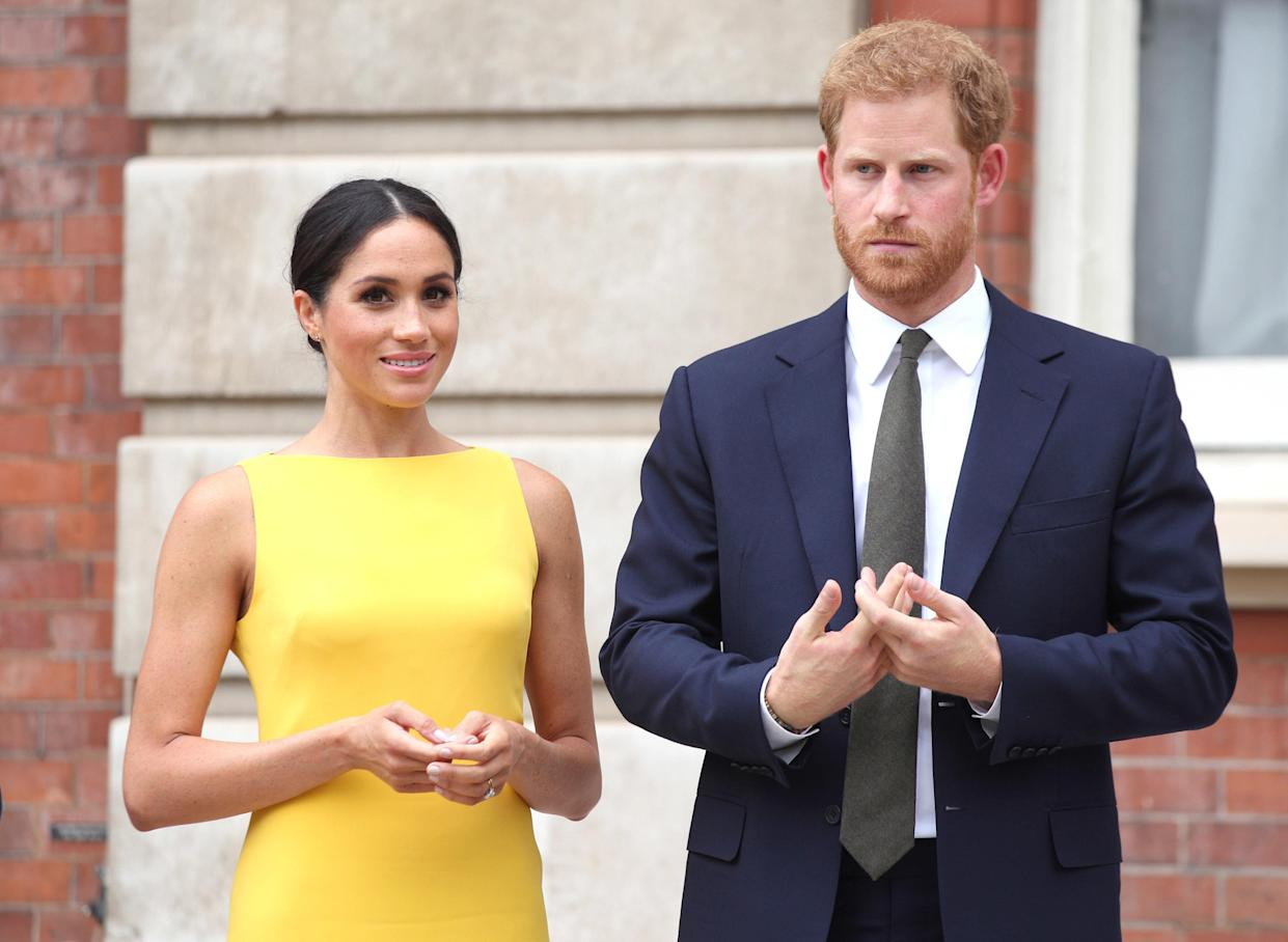 File photo dated 05/07/18 of the Duke and Duchess of Sussex who have been granted an award by a charity for making the