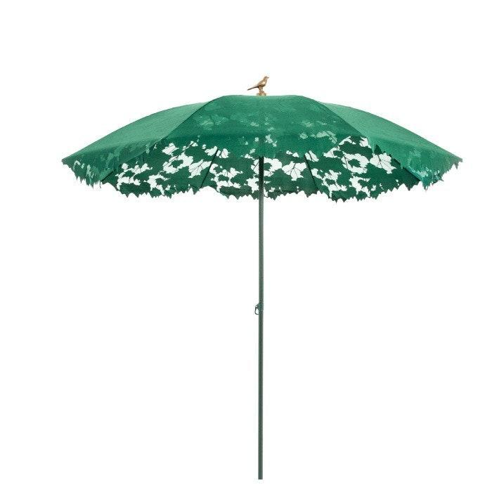 """Decorating a garden for tea time? You need this lacy jade umbrella for your outdoor space, designed by Chris Kabel for the Dutch design company Droog, with a tiny bird perched on top. When sunlight shines through, the pattern creates a dappled design, giving your patio furniture new life. $350, Burke Decor. <a href=""""https://www.burkedecor.com/products/shadylace-parasol-in-various-colors-design-by-droog"""" rel=""""nofollow noopener"""" target=""""_blank"""" data-ylk=""""slk:Get it now!"""" class=""""link rapid-noclick-resp"""">Get it now!</a>"""