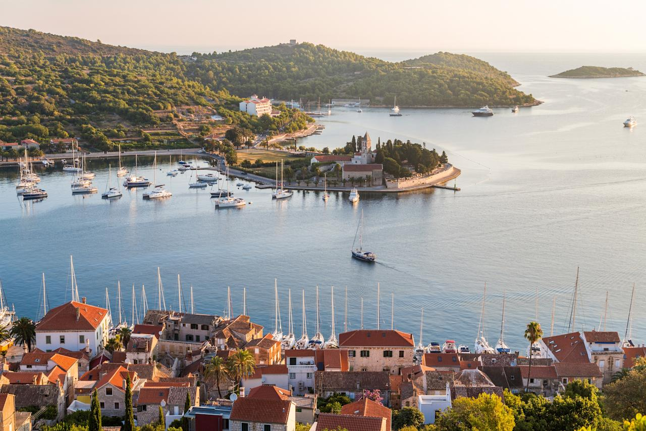 "Leave Italy for the hordes of tourists; <a href=""https://www.cntraveler.com/gallery/best-places-to-visit-in-croatia?mbid=synd_yahoo_rss"">Croatia is the relaxed Mediterranean getaway</a> of your dreams. With hundreds of miles of pristine coastline dotted with islands, the country is tailor-made for a <a href=""https://www.cntraveler.com/galleries/2016-07-14/10-best-beaches-in-europe?mbid=synd_yahoo_rss"">beach vacation</a> of lazy days in the sun. The capital city, Zagreb, is a pedestrian fever dream, with immensely walkable streets, an ancient walled city, large open-air markets, open-air cafés, even a Museum of Broken Relationships. National parks like Mljet and Krka offer acres of greenery if you're just <em>so tired</em> of looking at the sapphire blue waters of the Adriatic, while the stunning medieval city of <a href=""https://www.cntraveler.com/galleries/2016-01-08/the-50-most-beautiful-cities-in-the-world?mbid=synd_yahoo_rss"">Dubrovnik</a>—which gained fame as King's Landing in <em>Game of Thrones</em>—is one of the most beautiful cities in the world, and offers both history and television buffs plenty of Instagram fodder. But to reiterate: If you're not lounging on a beach in Croatia, you're doing something wrong."