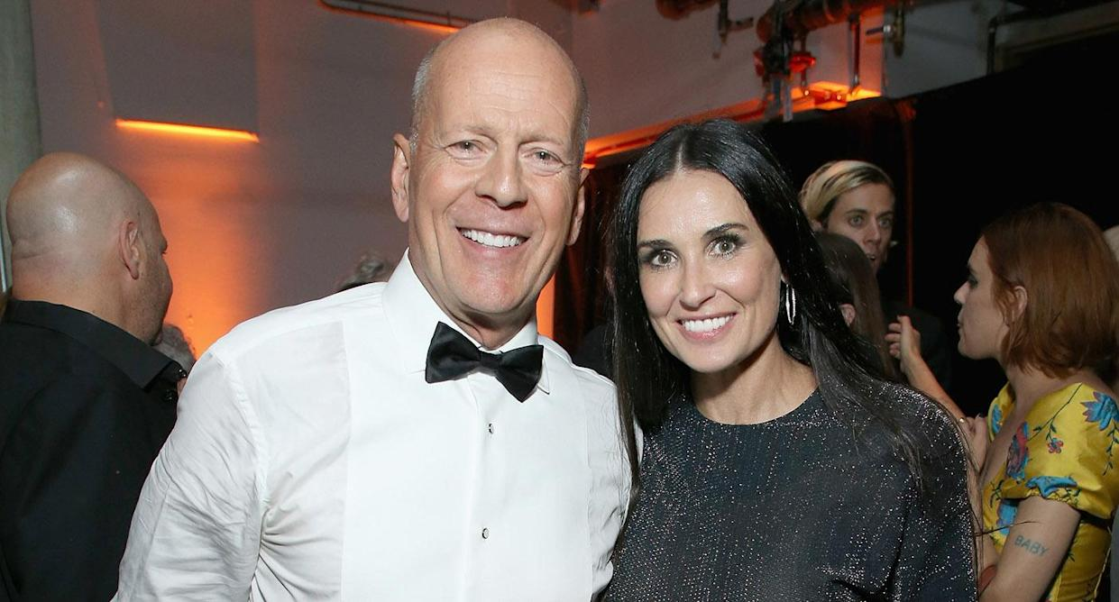 Bruce Willis and Demi Moore reunited for their daughter's birthday. (Photo by Phil Faraone/VMN18/Getty Images For Comedy Central)