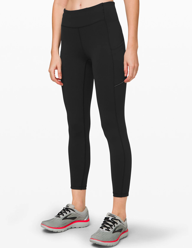 "Nothing can ruin a run faster than a saggy, suffocating pair of leggings, which is why filling your top shelf with workout gear that's functional is so important. Lululemon has hundreds of leggings to choose from, and I've sweat my way through a handful to tell you that these are some of the best ones for running. It comes in three lengths (a 25"", 28"", and 31""), has a side pocket, and a waistband thick enough so you feel supported but not smothered while you move. Honestly, these leggings are so comfy you'll forget you're even wearing them. —<em>Talia Abbas, commerce writer</em> $108, Lululemon. <a href=""https://shop.lululemon.com/p/women-pants/Speed-Up-7-8-Tight/_/prod9270623"" rel=""nofollow noopener"" target=""_blank"" data-ylk=""slk:Get it now!"" class=""link rapid-noclick-resp"">Get it now!</a>"