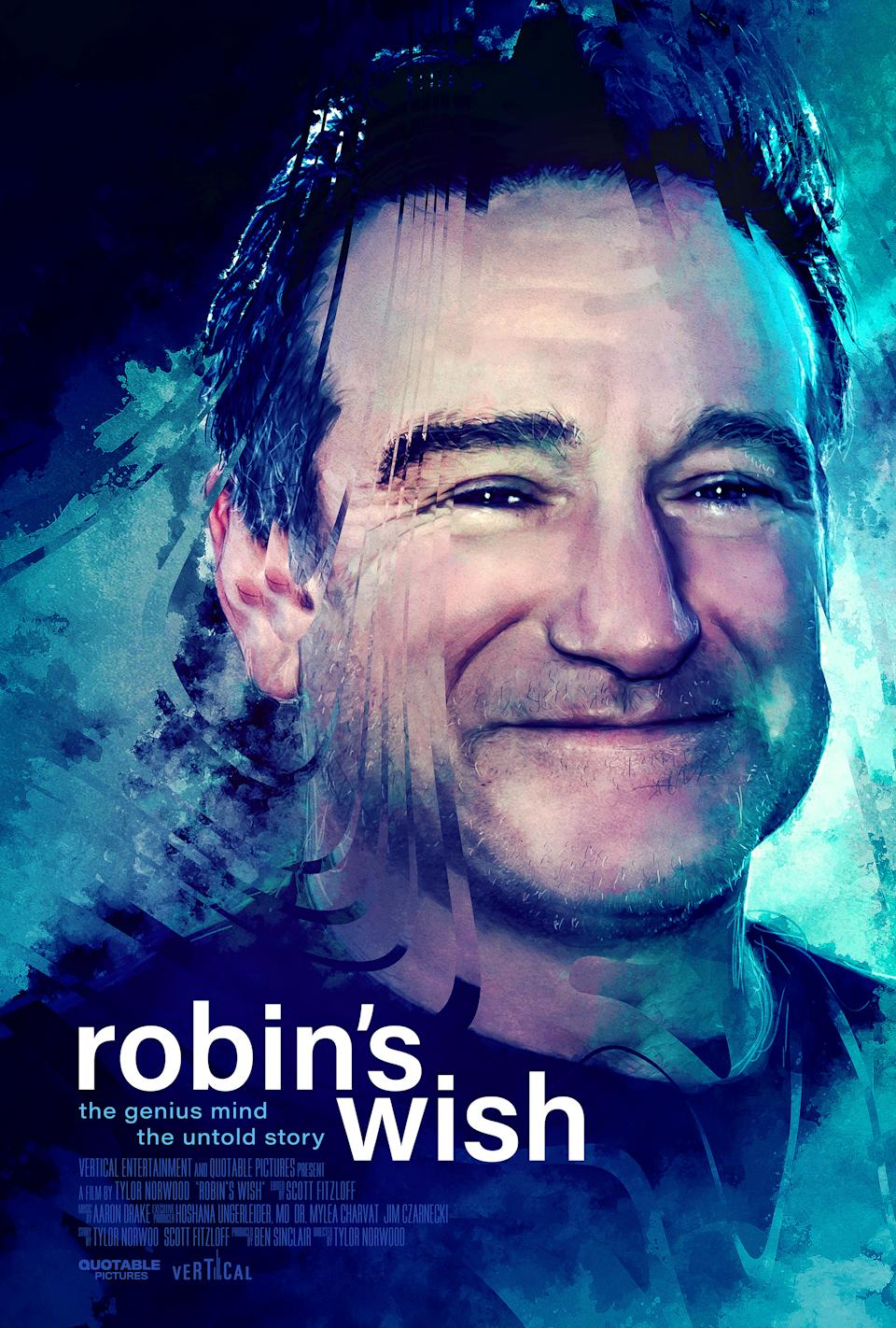 The poster for Robin's Wish, a new documentary about Robin Williams. (Vertical Entertainment)