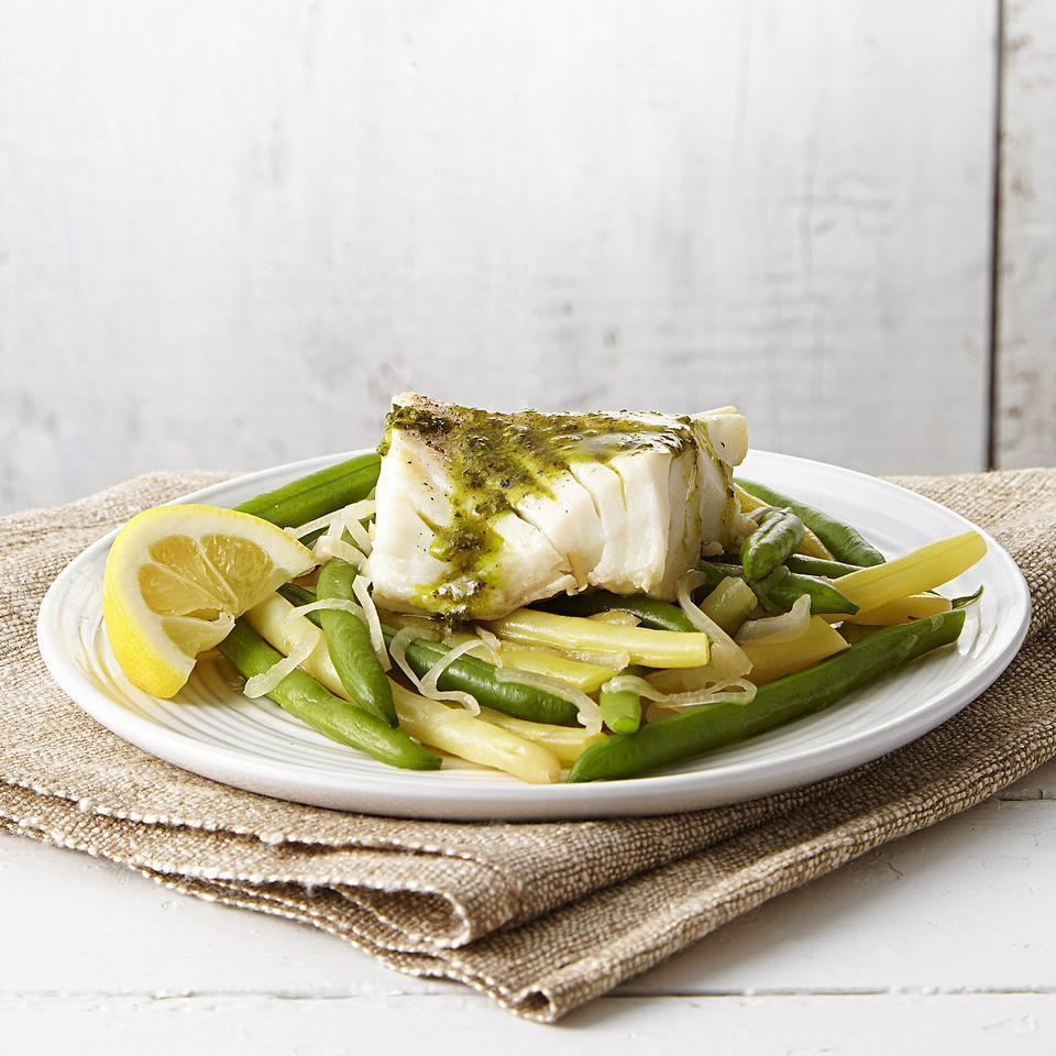 <p>Using just one skillet, this easy fish recipe cooks cod right on top of fresh green beans and uses the same pan to make a flavorful sauce. The result is perfectly flaky fish, tender-crisp vegetables, a savory pan sauce and very little cleanup.</p>