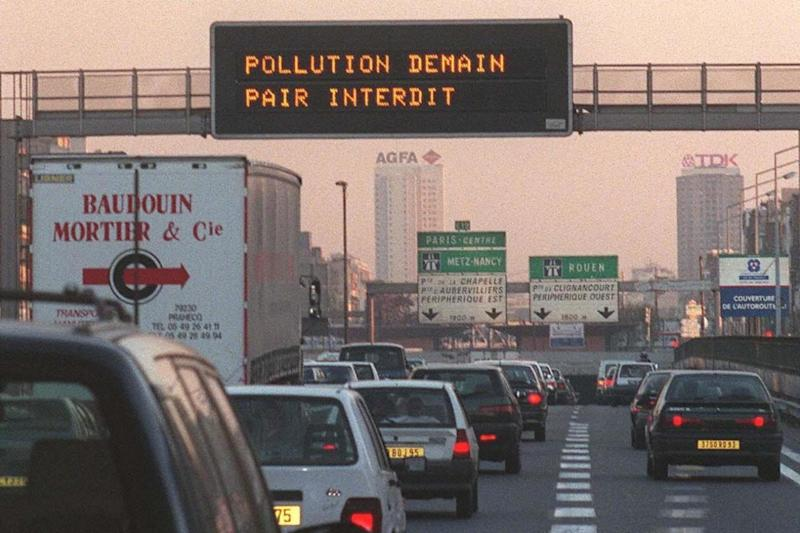 Paris has plans in place to ban all petrol and diesel vehicles to tackle pollution (AFP/Getty Images)