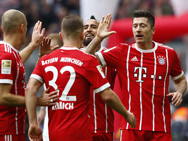 Bayern have made a habit of recording big home wins over Hamburg at the Allianz Arena in recent years and it took them less than eight minutes to take the lead this time.