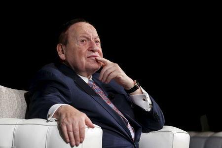Gambling giant Las Vegas Sands Corp's Chief Executive Sheldon Adelson reacts during a news conference in Macau, China December 18, 2015. REUTERS/Tyrone Siu