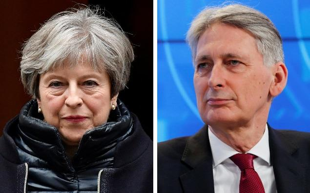 Theresa May has excluded Philip Hammond from a series of keynote speeches on the form of Brexit