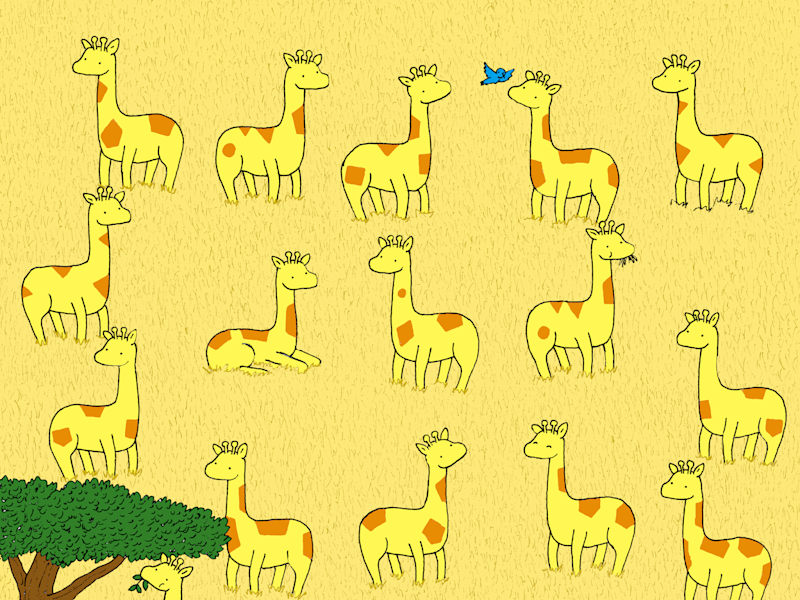 One Of The Giraffes In This Brainteaser Doesn T Have A Twin Can