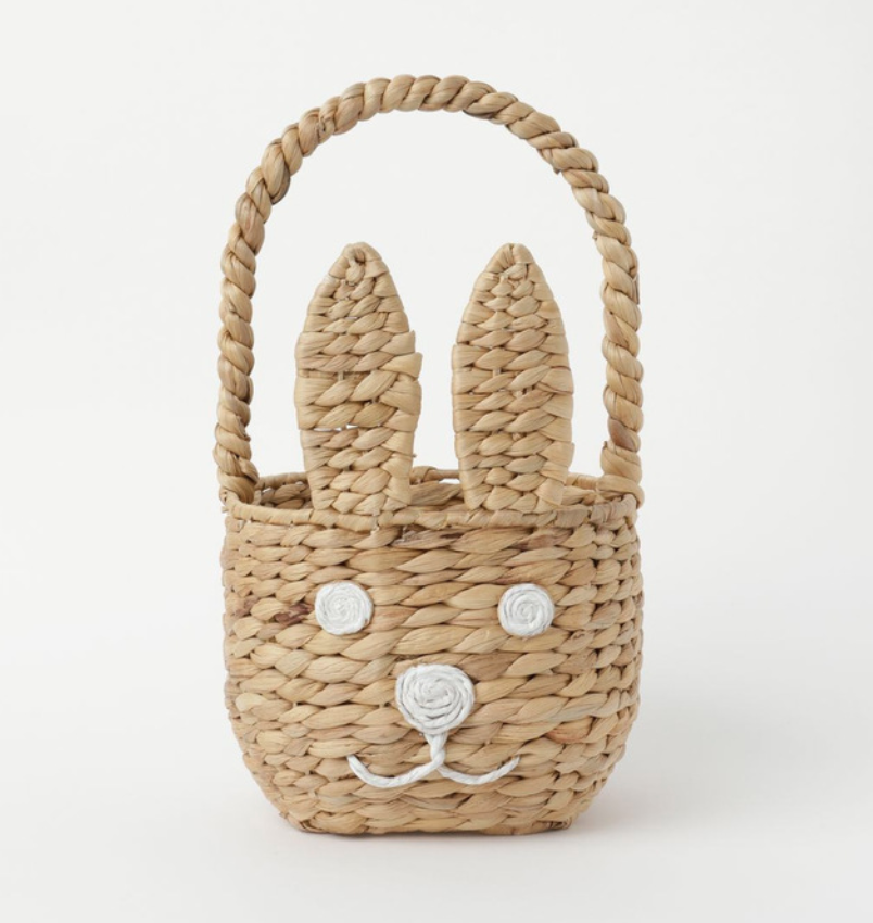woven basket for easter egg hunt