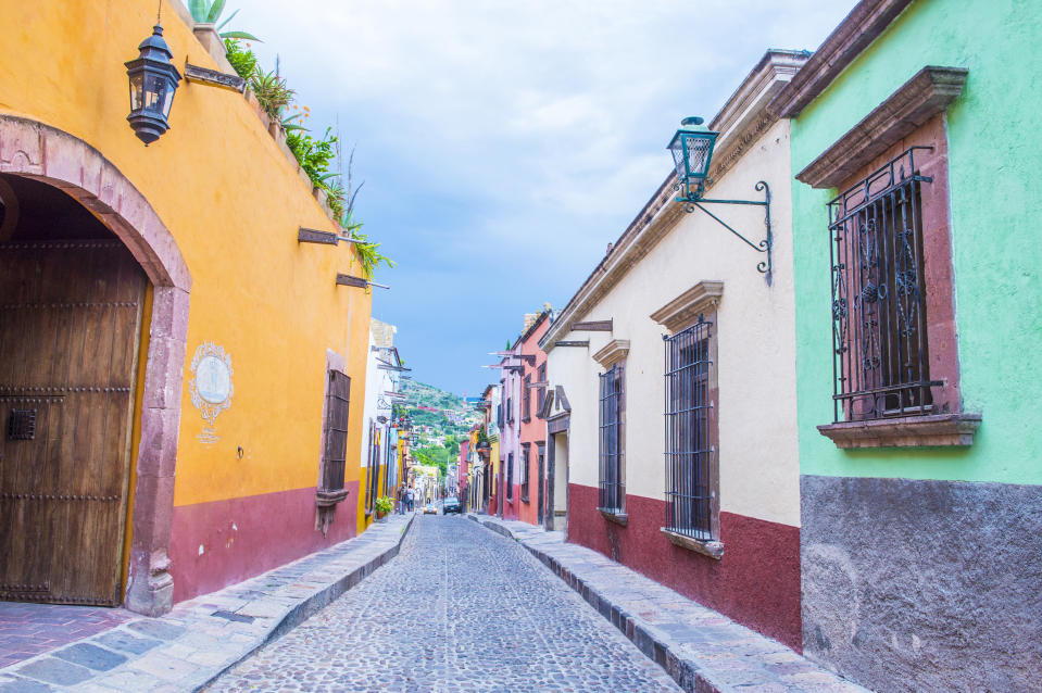 San Miguel de Allende, an UNESCO World Heritage Site since 2008, is a popular place for expats to settle. Although a recent uptick in crime makes it a riskier choice. (Photo: Kobby Dagan/VW Pics/Universal Images Group via Getty Images)