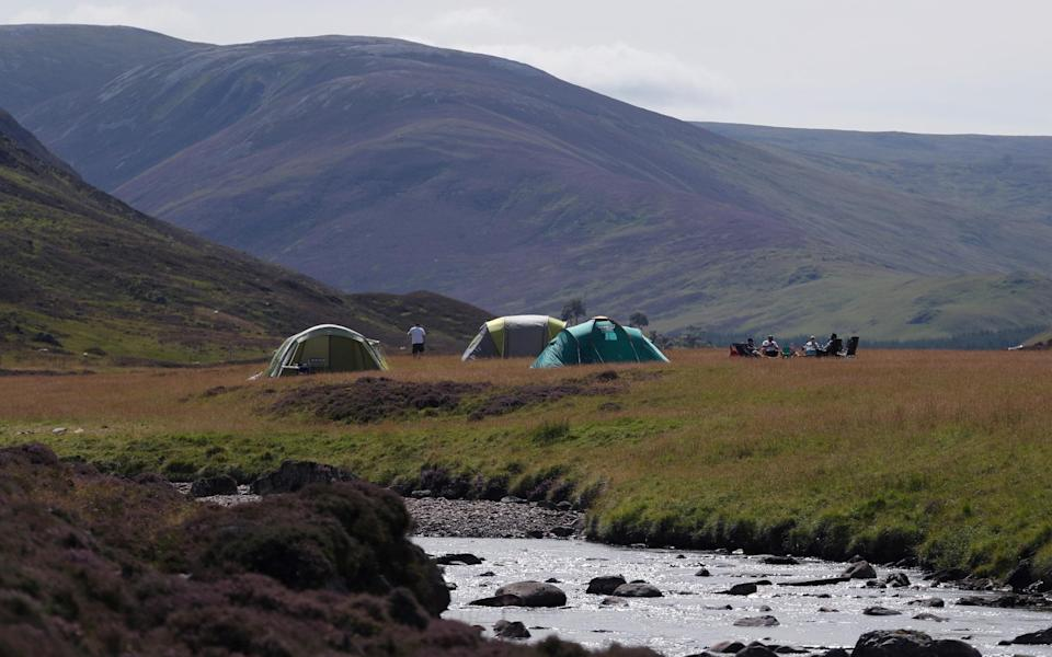 Wild camping by Clunie Water, Aberdeenshire - Reuters