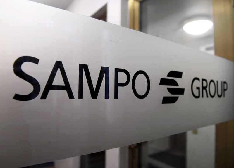 FILE PHOTO: Sampo Group's logo is pictured at the company's headquarters in Helsinki