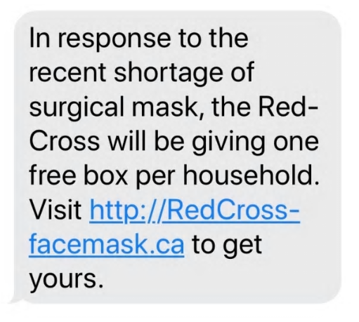 """Phishing scams """"lure"""" you to a phony website. The American National Red Cross and its individual states, as well as the Canadian Red Cross, has seen several coronavirus phishing scams that claim to be from its organizations."""
