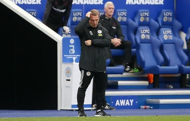 Brendan Rodgers admitted Leicester were below par (Nigel French/PA)