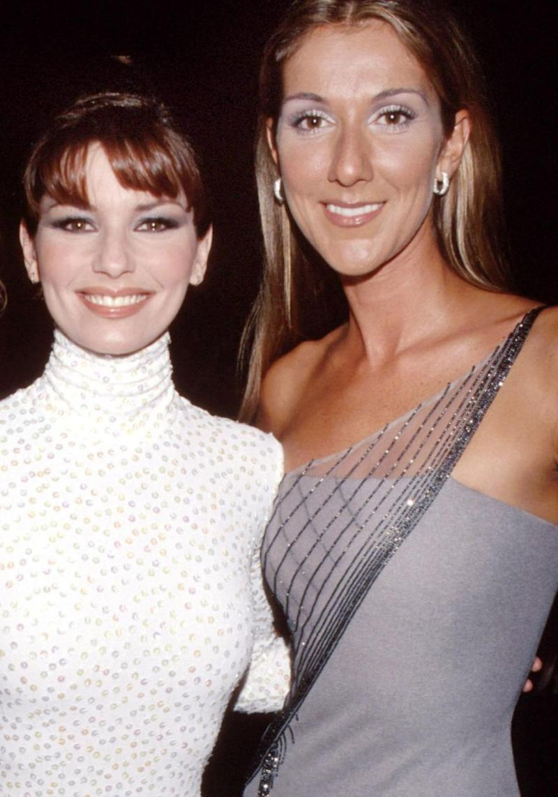 We're kind of gutted their tours don't overlap. A Celine-Shania duet in Australia would've been epic. The pair are pictured here together in 1999 at the Grammys. Source: Getty
