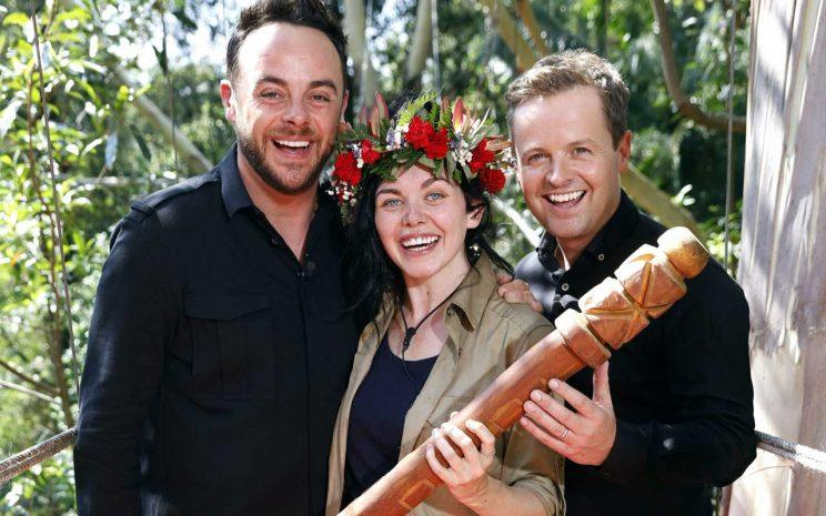 And and Dec with Scarlett Moffatt/Rex Photos