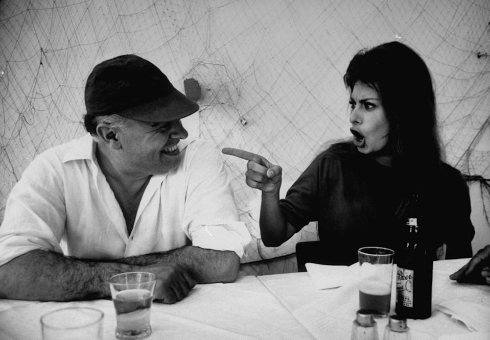 Carlo Ponti y Sophia Loren (Getty Images)