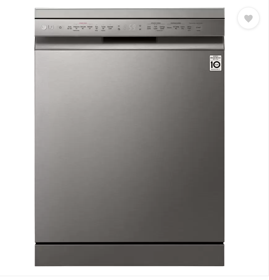 LG DFB424FP Free Standing 14 Place Settings Dishwasher