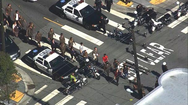 PHOTO: A shooting was reported at a UPS in San Francisco, June 14, 2017. (KGO)