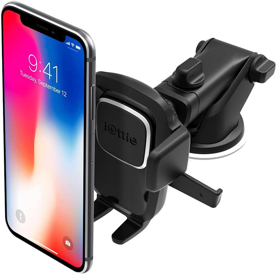 <p>Raise your hand if your phone doubles as your GPS! If this is the case, then the <span>iOttie Easy One Touch 4 Dash & Windshield Car Mount Phone Holder</span> ($25) makes navigating a breeze. </p>