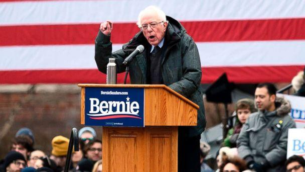 PHOTO: Senator Bernie Sanders speaks during a rally to kick off his 2020 presidential campaign, in the Brooklyn borough of New York City, March 2, 2019. (Johannes Eisele/AFP/Getty Images)