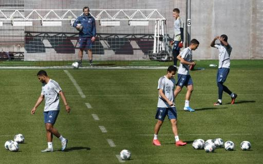 Bayern Munich's players resumed training with restrictions