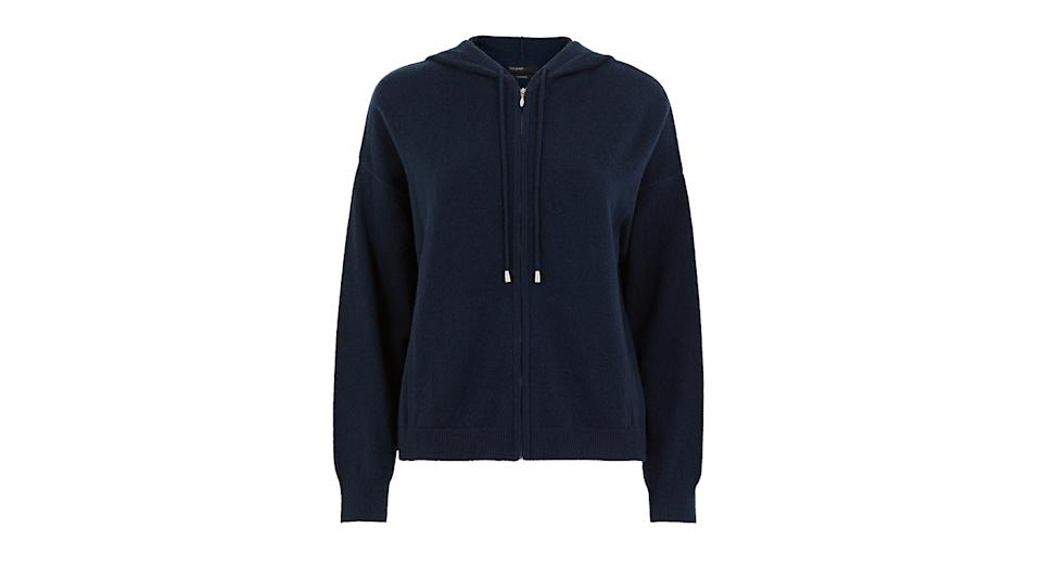 Pure Cashmere Cropped Hoodie