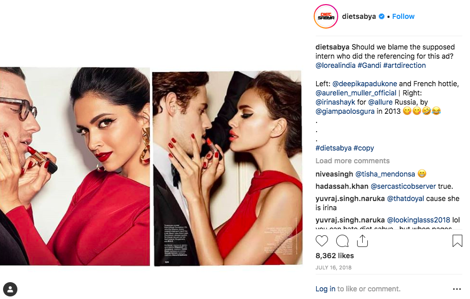 <p>L'oreal's ad campaign faturing Deepika Padukone turned out to be a rip off from an international magazine's photo shoot. </p>