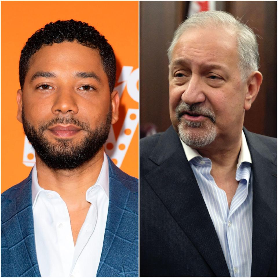 """Mark Geragos, right, has joined the legal team representing """"Empire"""" actor Jussie Smollett."""