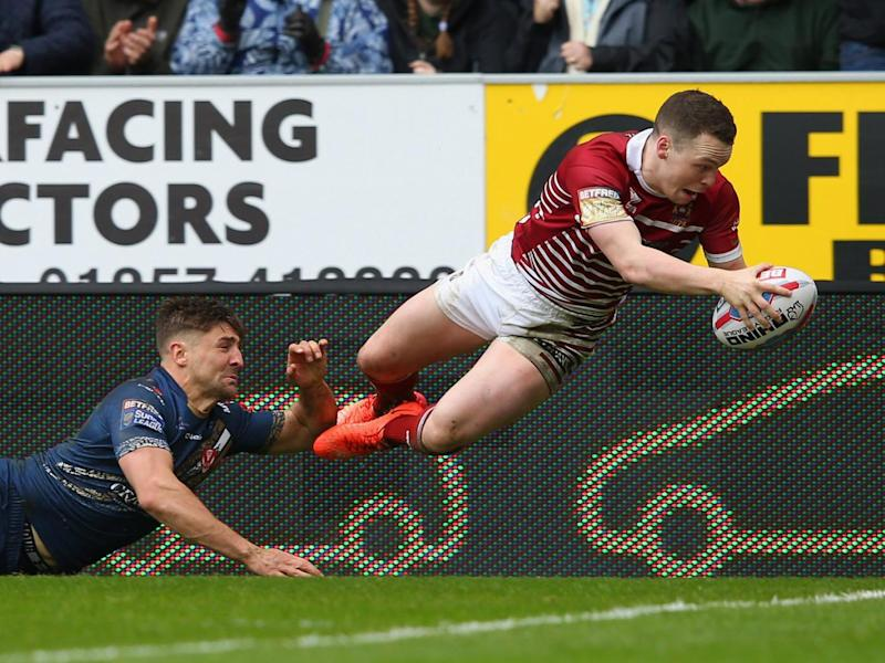 Joe Burgess dived over in the corner (Getty)