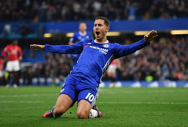 Eden Hazard appears to be at the top of Real Madrid's shopping list. (Getty)