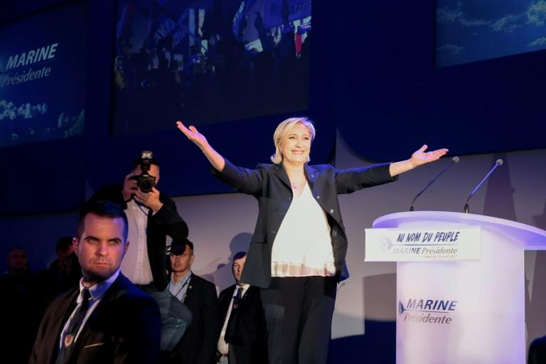 """Marine Le Pen hailed what she called a """"historic vote"""""""
