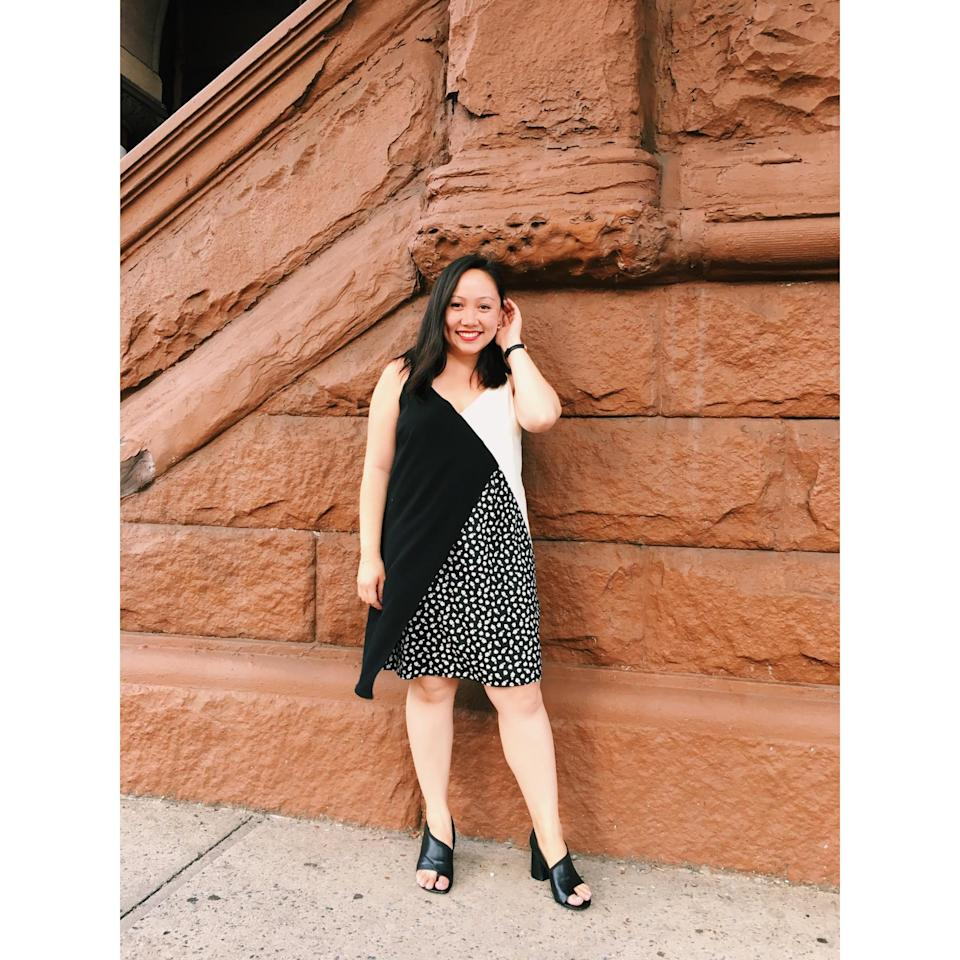 Yahoo Style Fashion Market Editor Julie Tong in a dress from the Kohl's k/lab line. (Photo: Julie Tong)