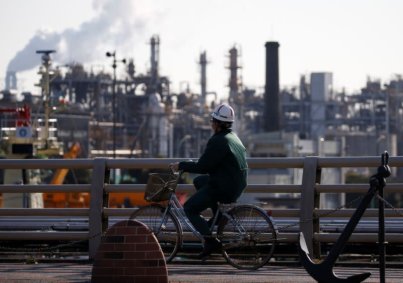 Japan's January factory output beats forecasts but slowdown expected
