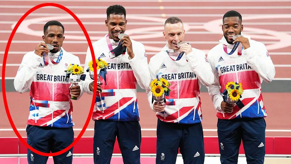 Pictured here, Great Britain's silver medal-winning 4x100m relay team.