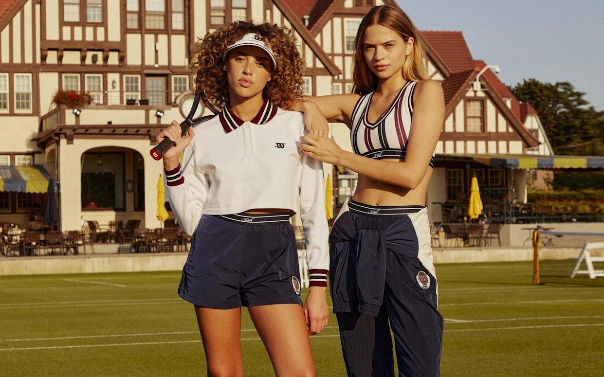 The Kith x Wilson collab combines tennis silhouettes with preppy flair. (Photo by Wilson)