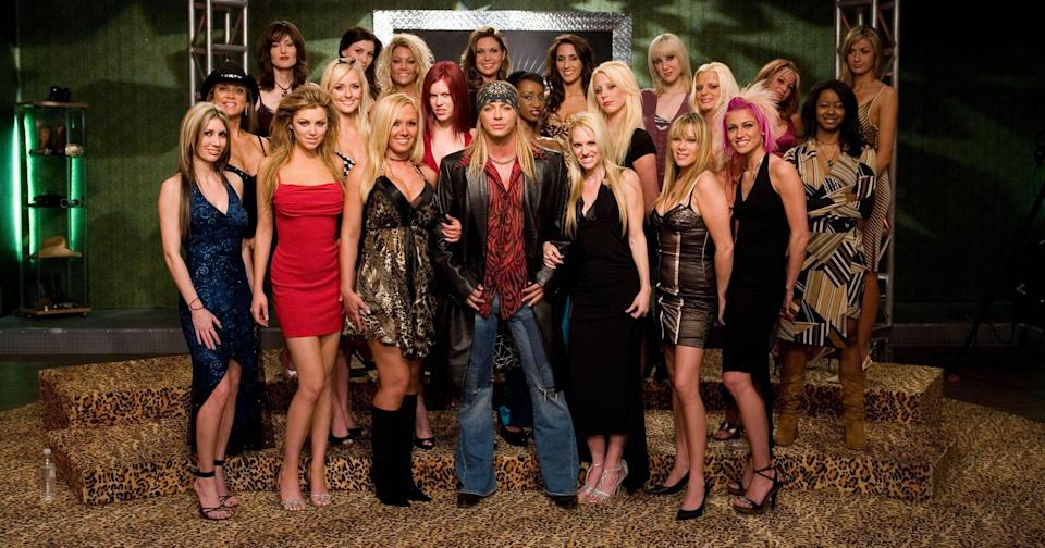 Bret Michaels and the 'Rock of Love' Season 1 cast. (Photo: VH1)