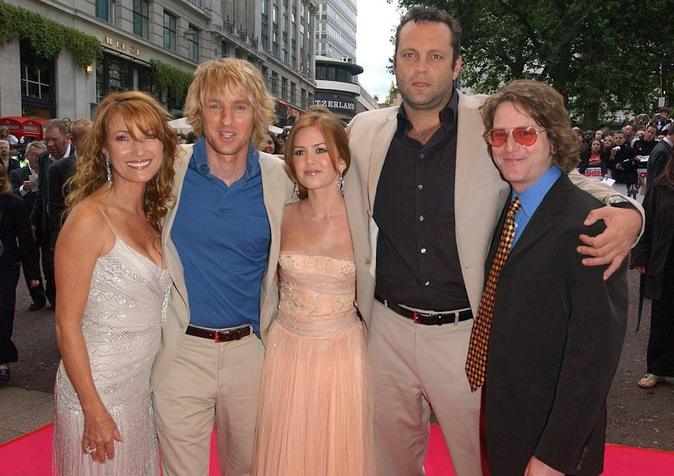 (From left to right) Jane Seymour, Owen Wilson, Isla Fisher, Vince Vaughn and director David Dobkin.   (Photo by Ian West - PA Images/PA Images via Getty Images)